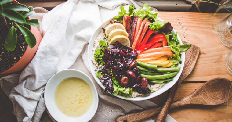 Rainbow Hummus Salad Bowl