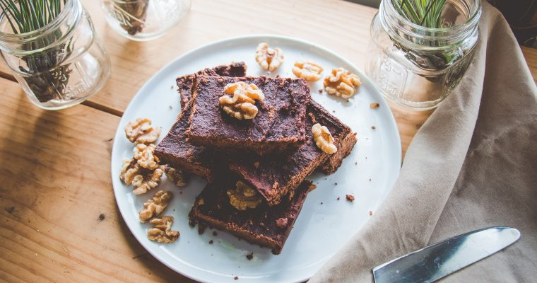 Sweet-Potato Walnut Brownies