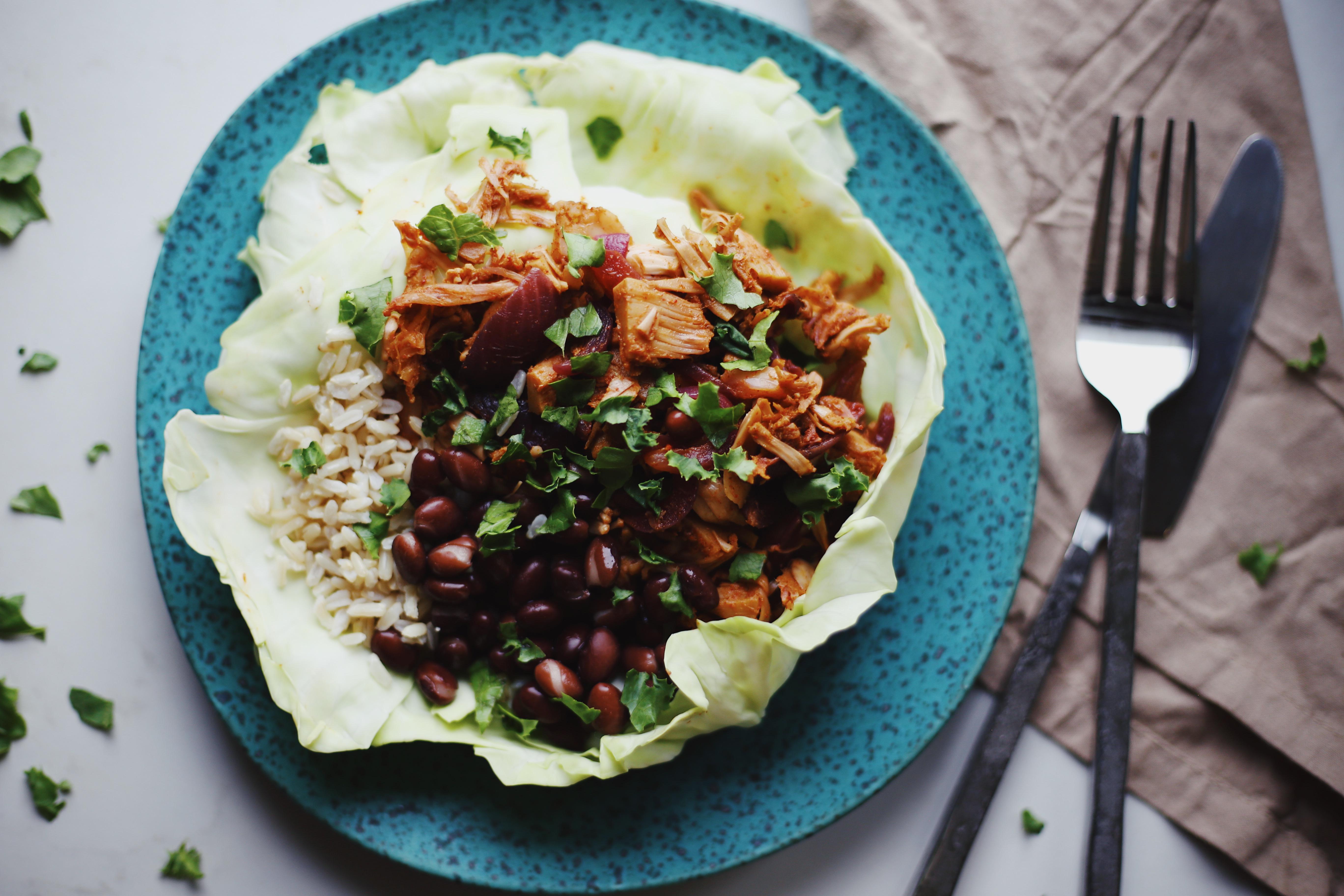 Vegan Mexican Jackfruit Bowls Gluten Free