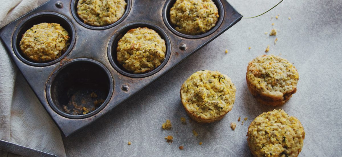 Firecracker Zucchini Cornbread Muffins