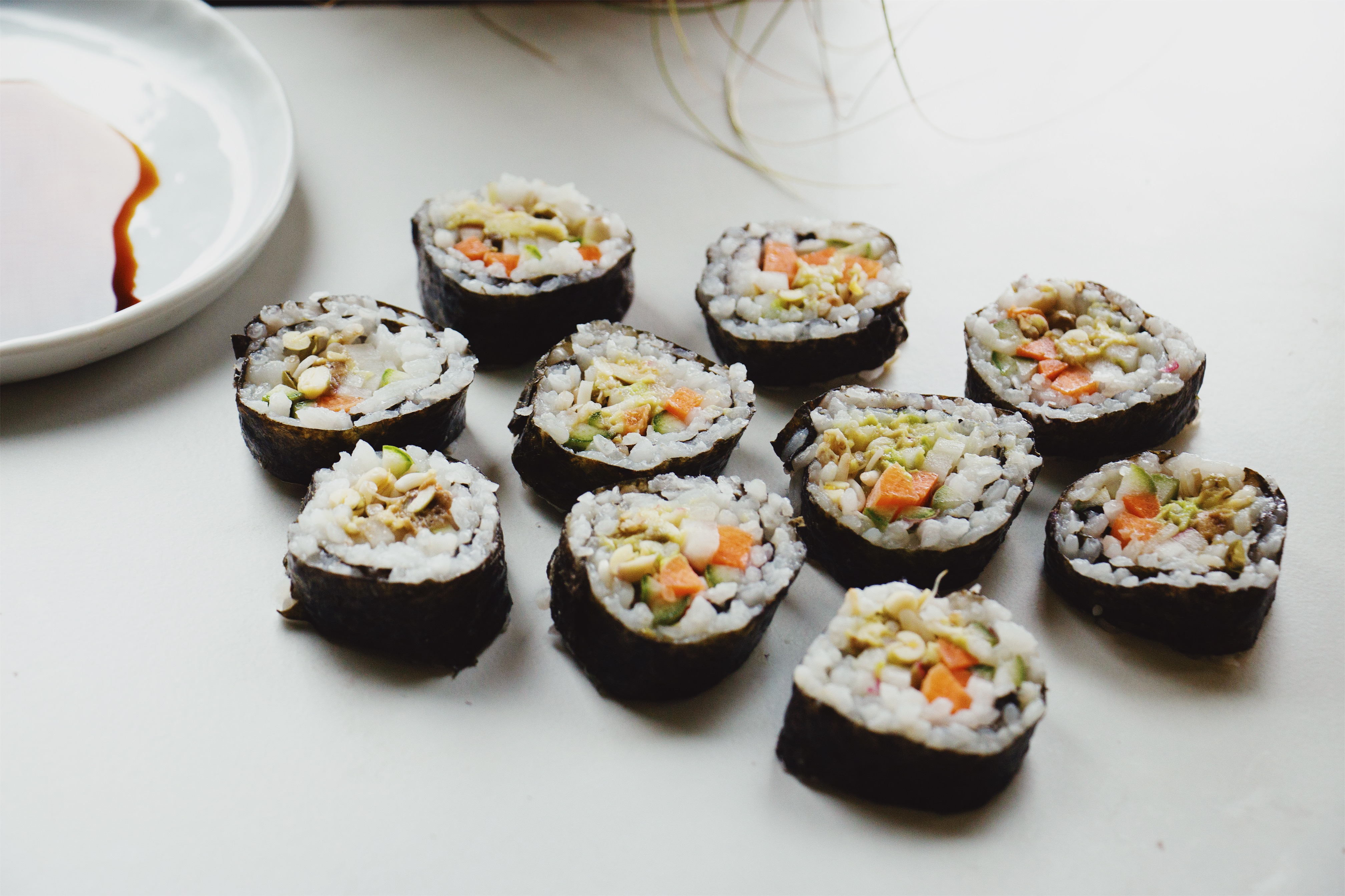 Easy Sushi Rolls with Soy Sauce