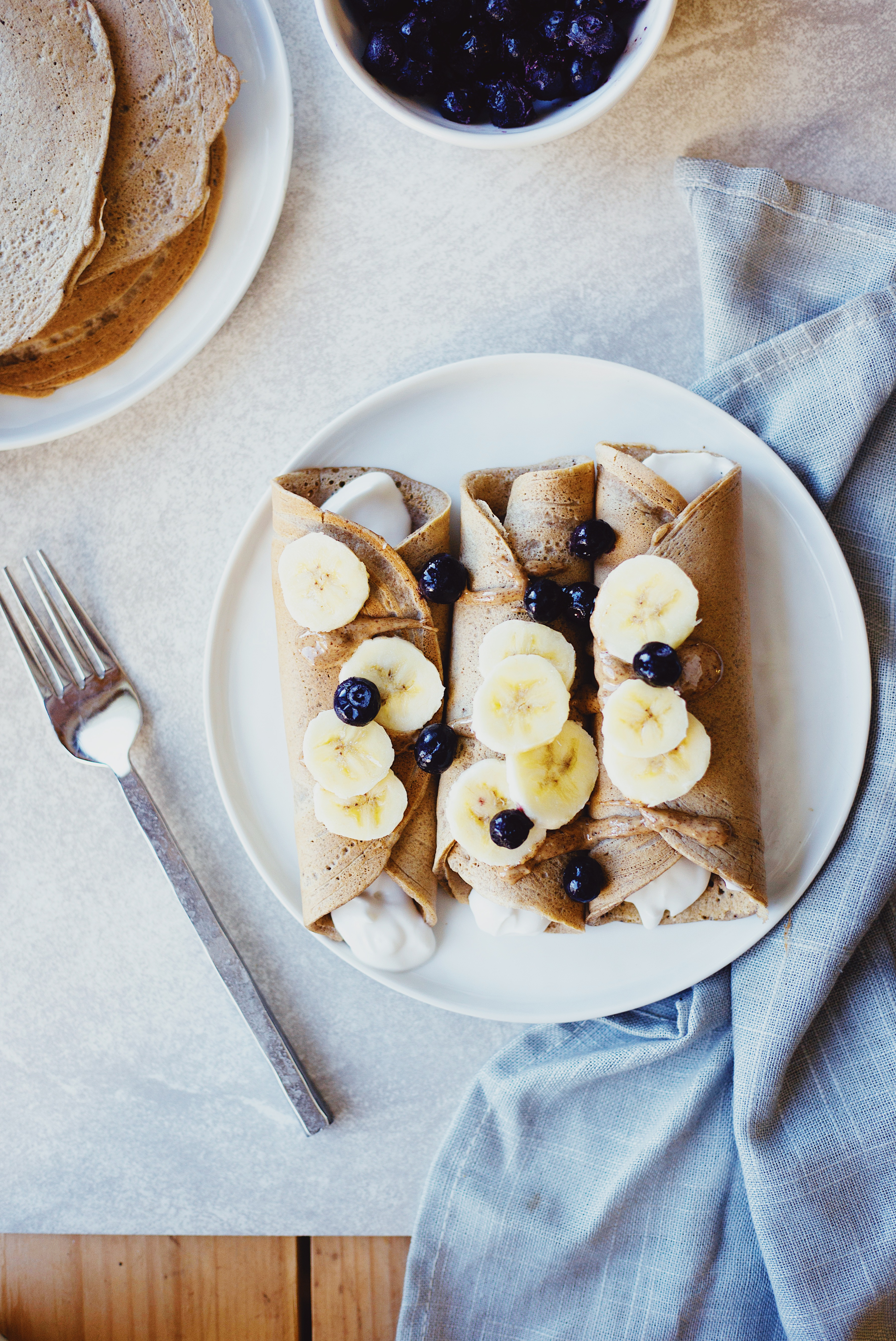 Healthy, Gluten Free Crepes