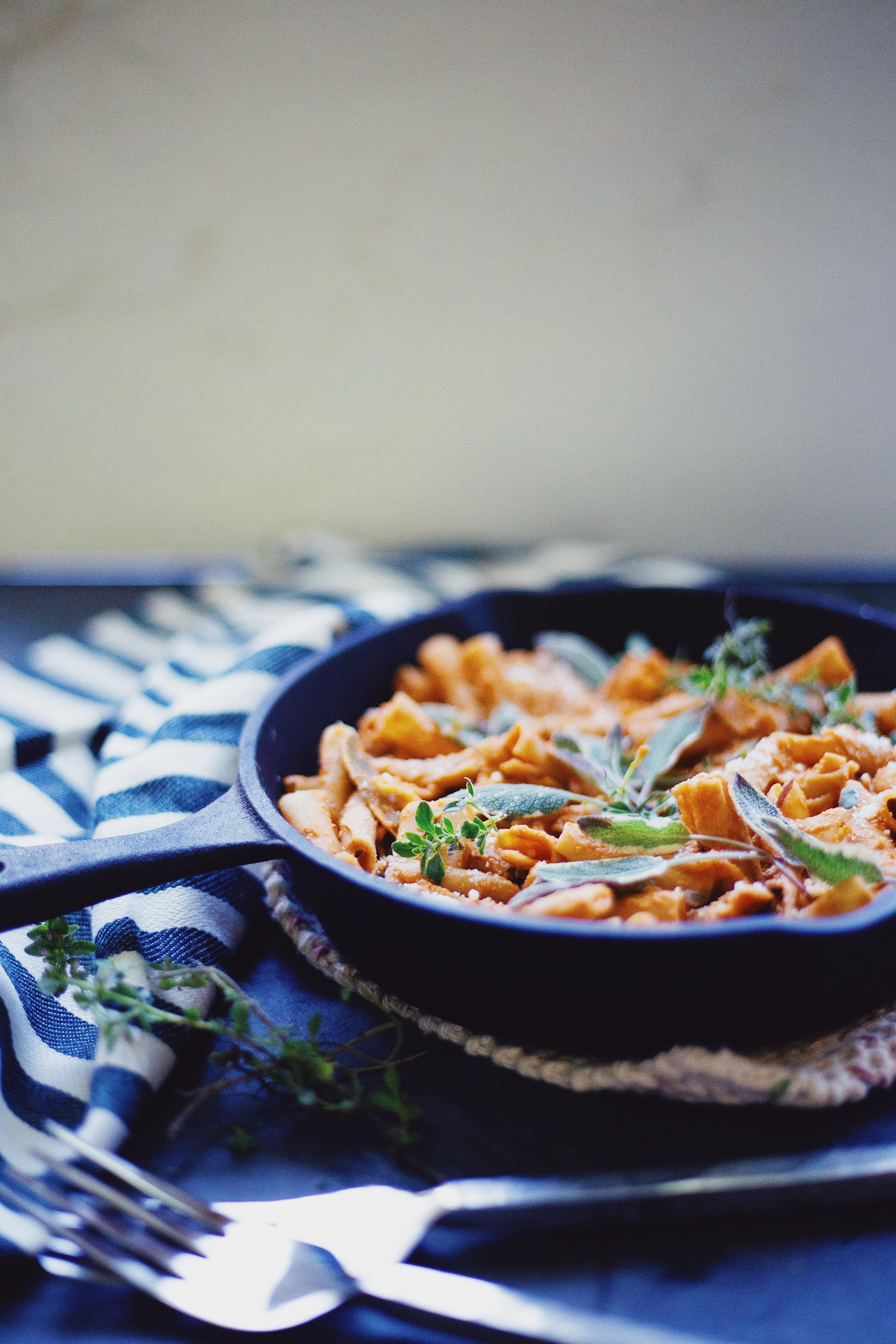 Gluten Free and vegan red pepper pasta