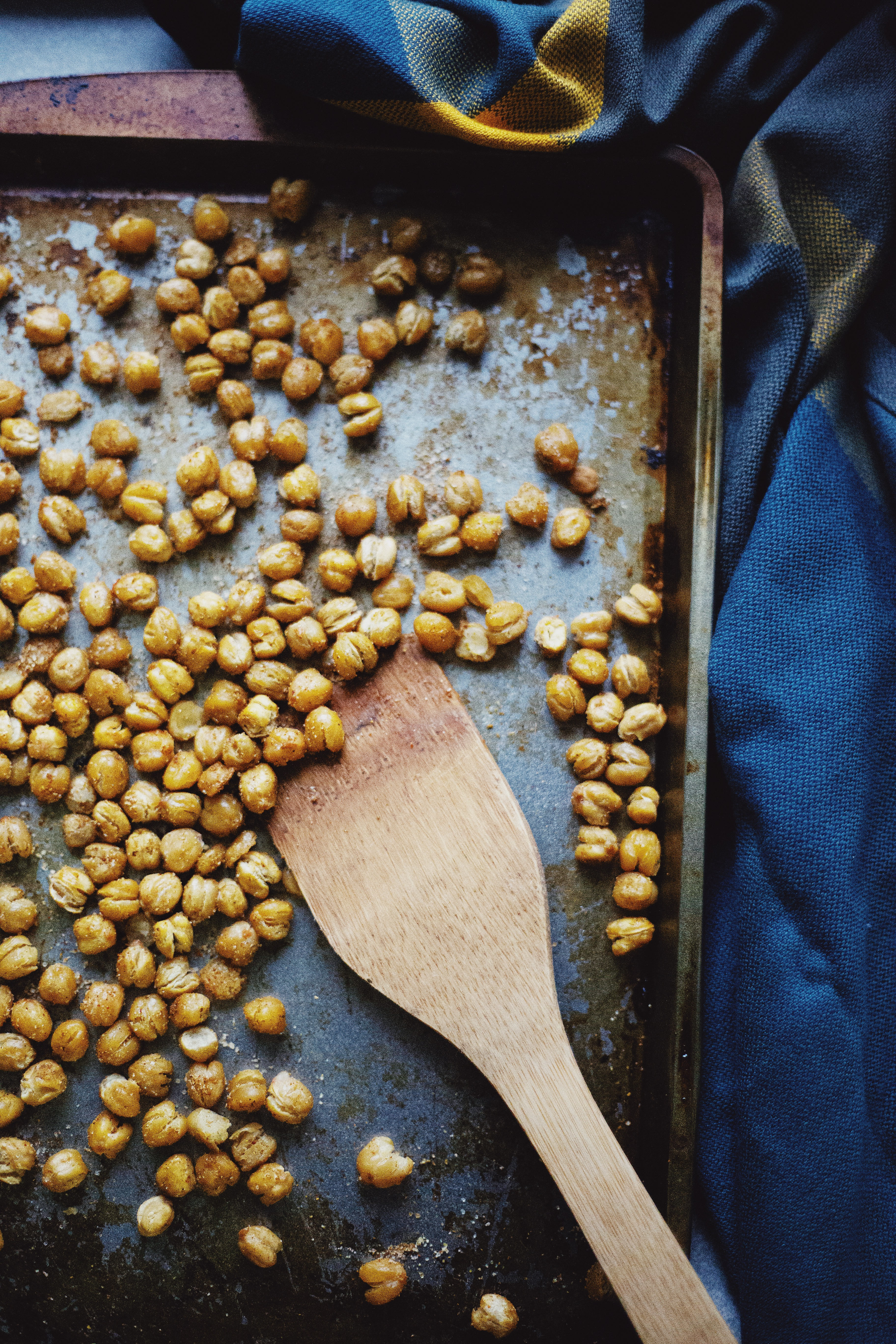 Crispy Curried Chickpeas recipe on The Local Sprout food blog. Gluten Free and Vegan