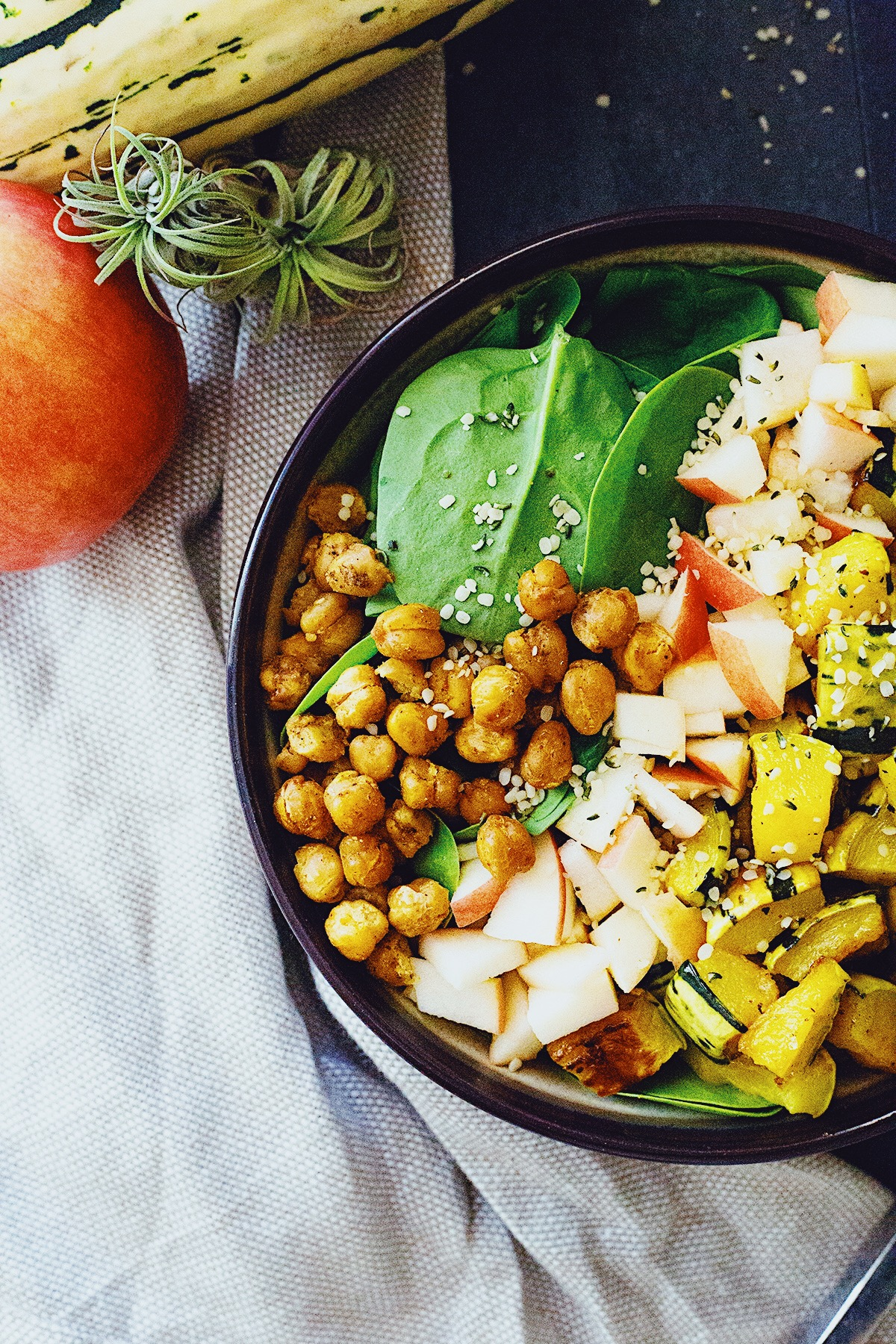 Simple Autumn Salad with Maple Tahini Dressing