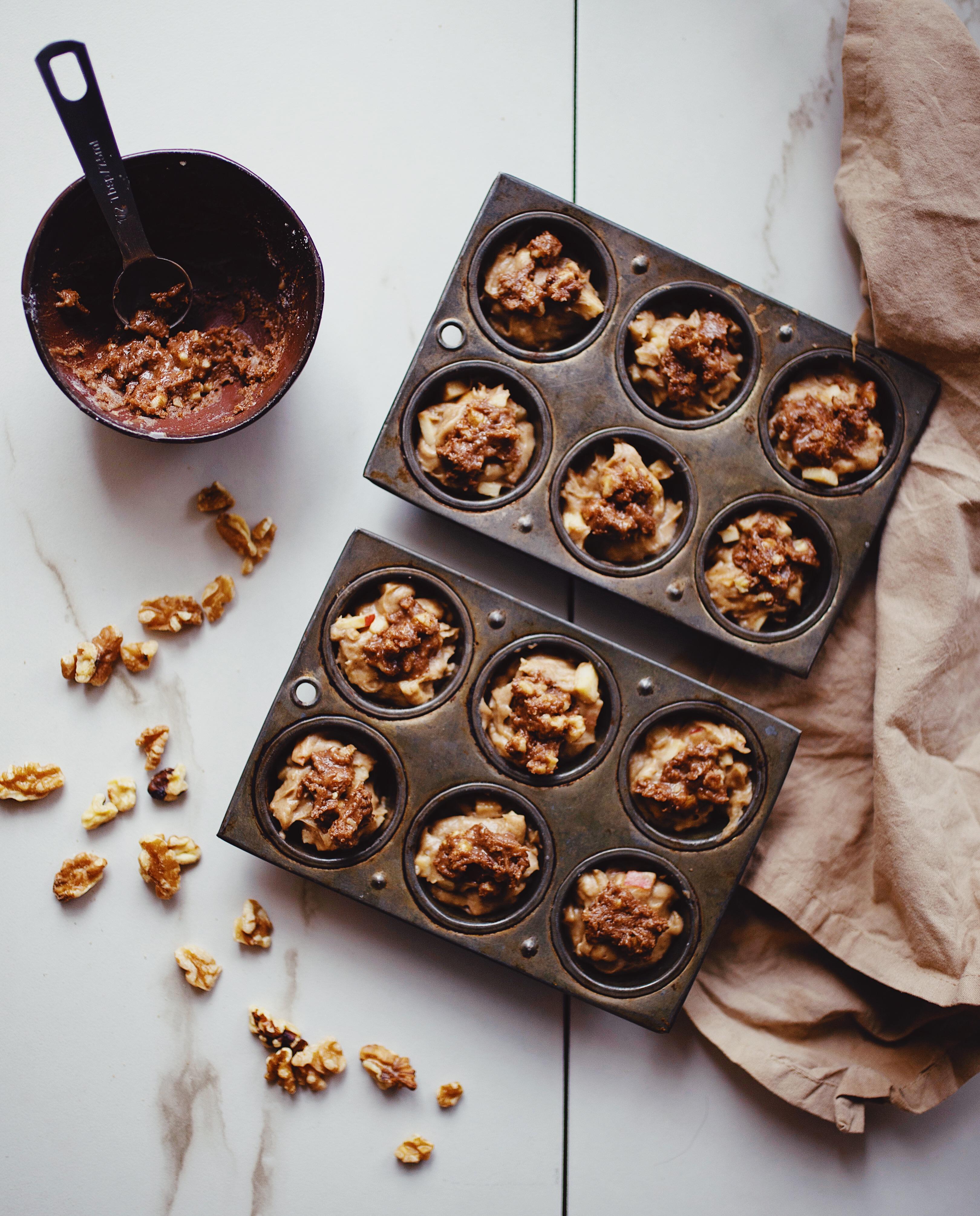 gluten free apple crumble muffins