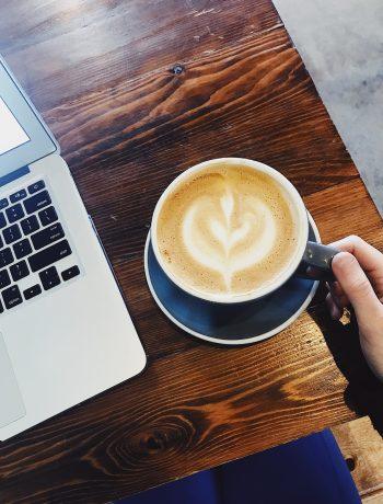 Building 3 Coffee almond milk latte