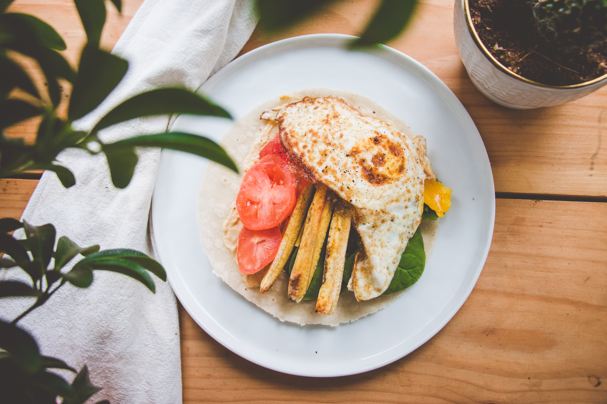 Plantain & Egg Sandwich Wraps