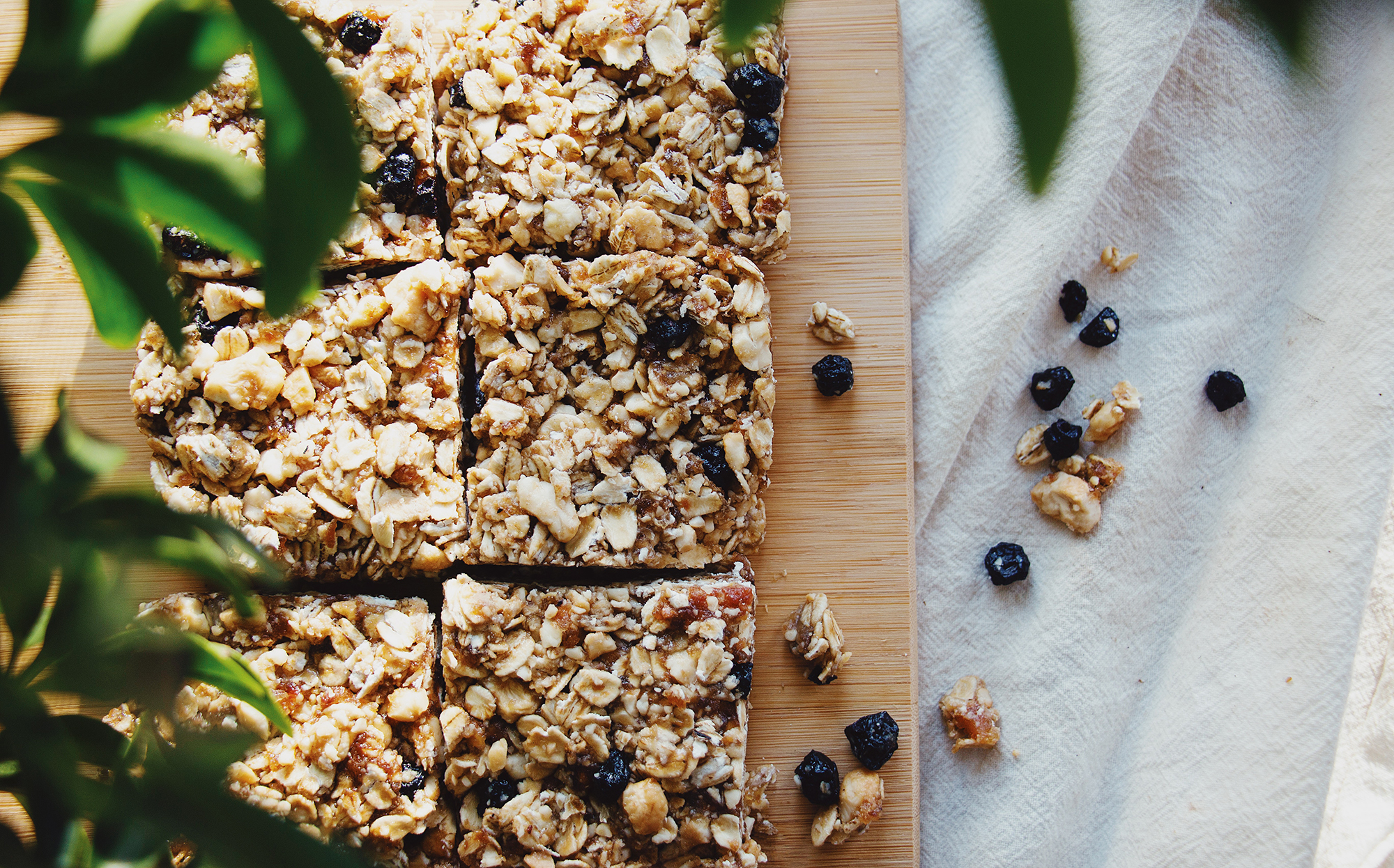Homeade Granola Bars on Cutting Board
