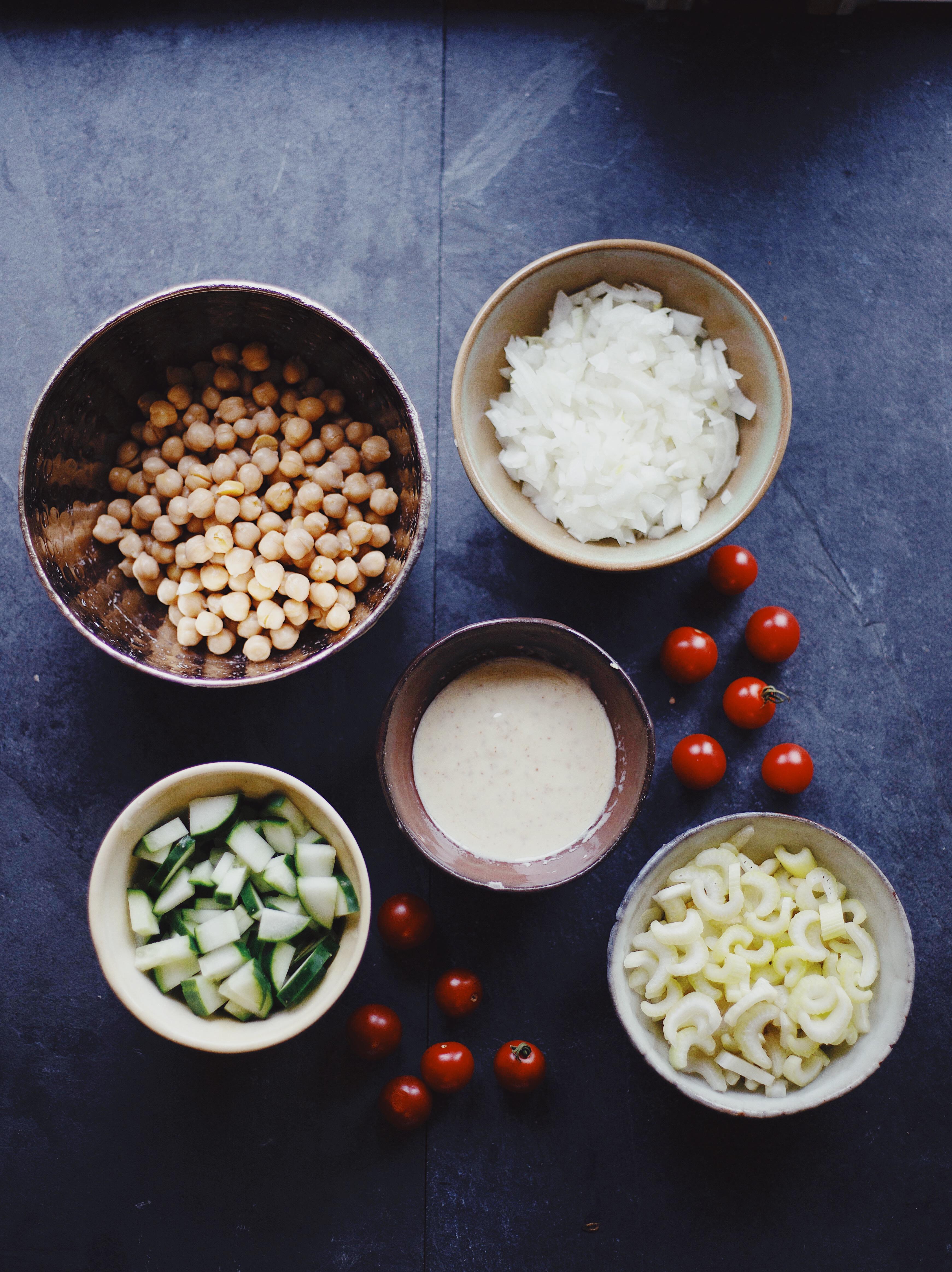 Healthy vegan chickpea salad sandwich recipe