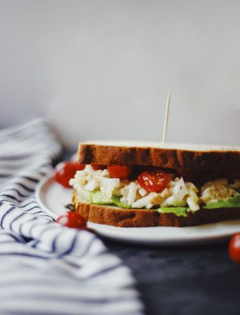 Chickpea salad sandwich on gluten free bread