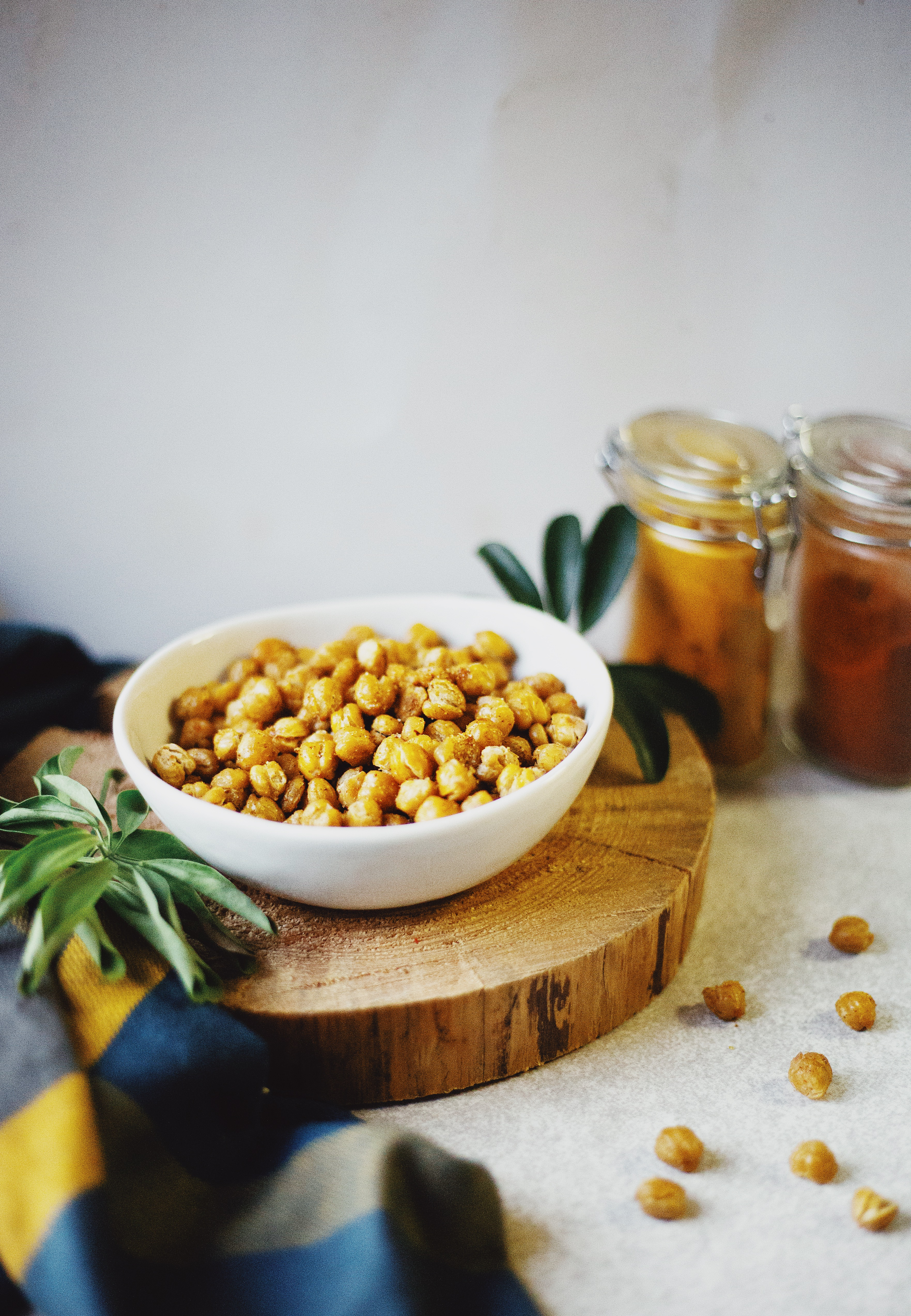 Healthy roasted chickpeas recipe on The Local Sprout gluten free food blog