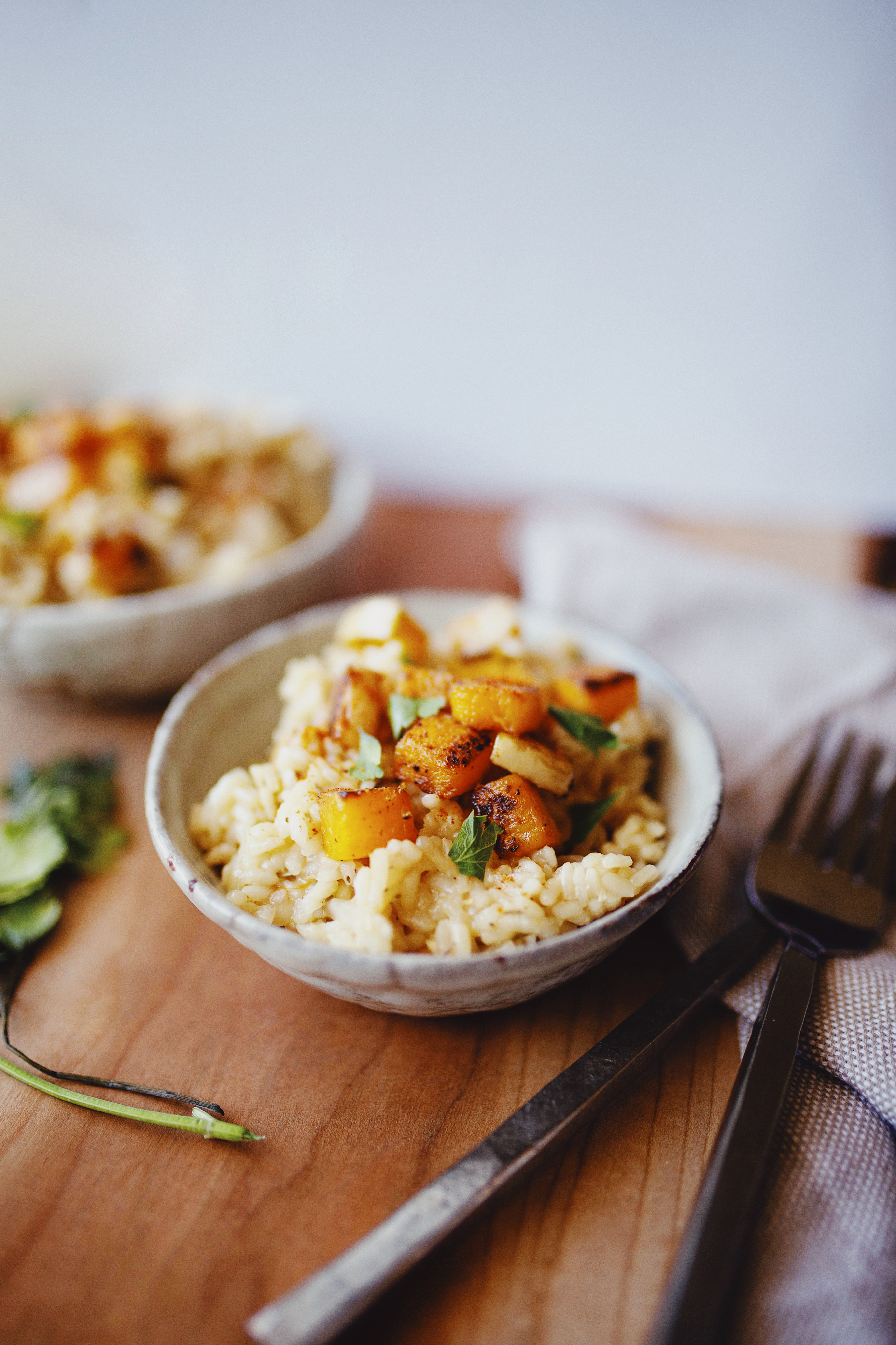 Vegan Butternut Squash Risotto Recipe