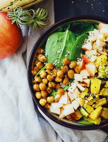Simple Autumn Salad with Maple Tahini Dressing