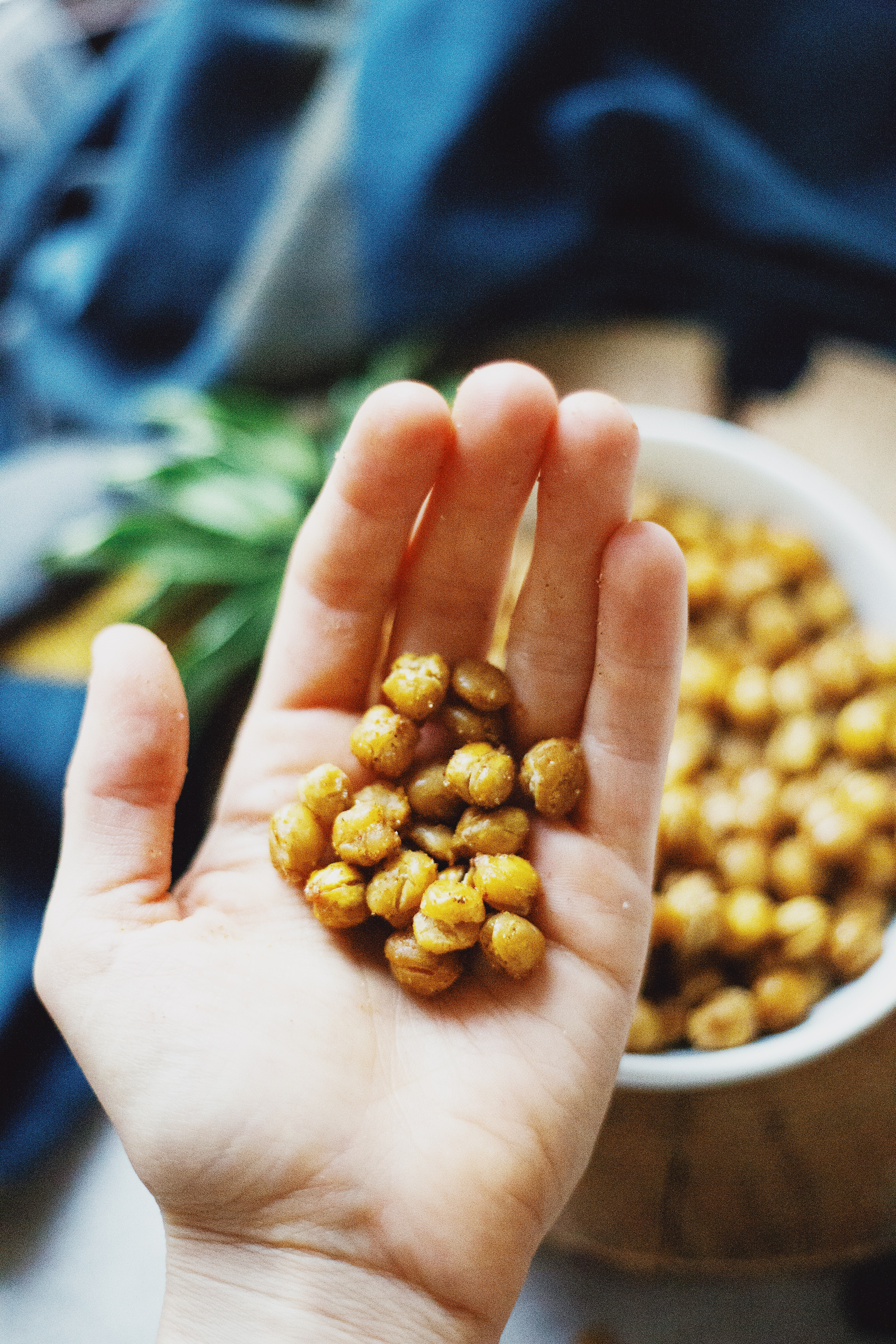 Baked chickpeas recipe on The Local Sprout food blog