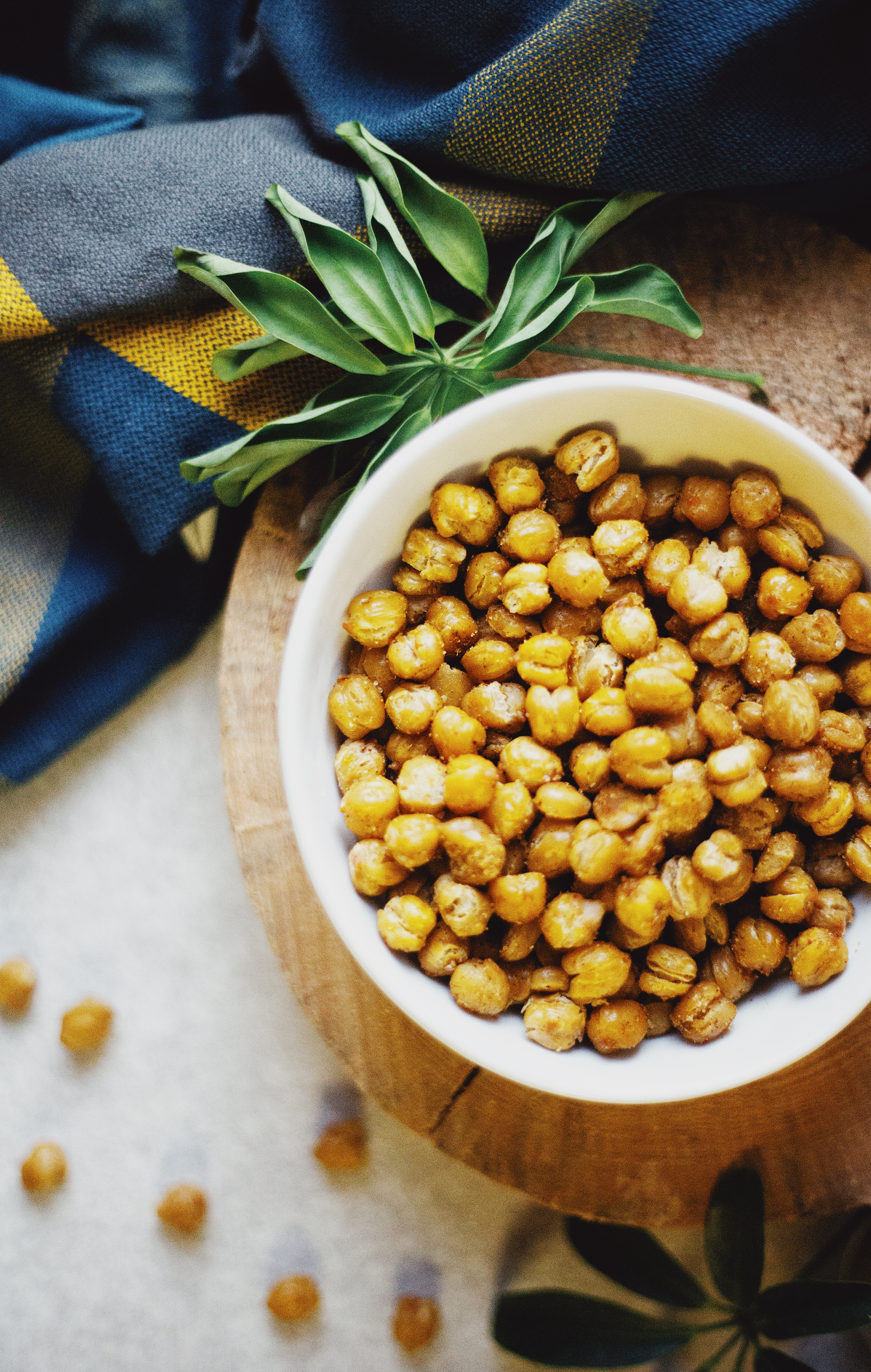 Vegan crispy chickpeas recipe on The Local Sprout gluten free food blog
