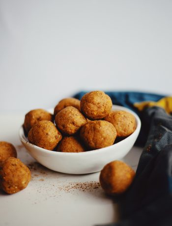Cassava flour sweet potato snack balls recipe on The Local Sprout food blog