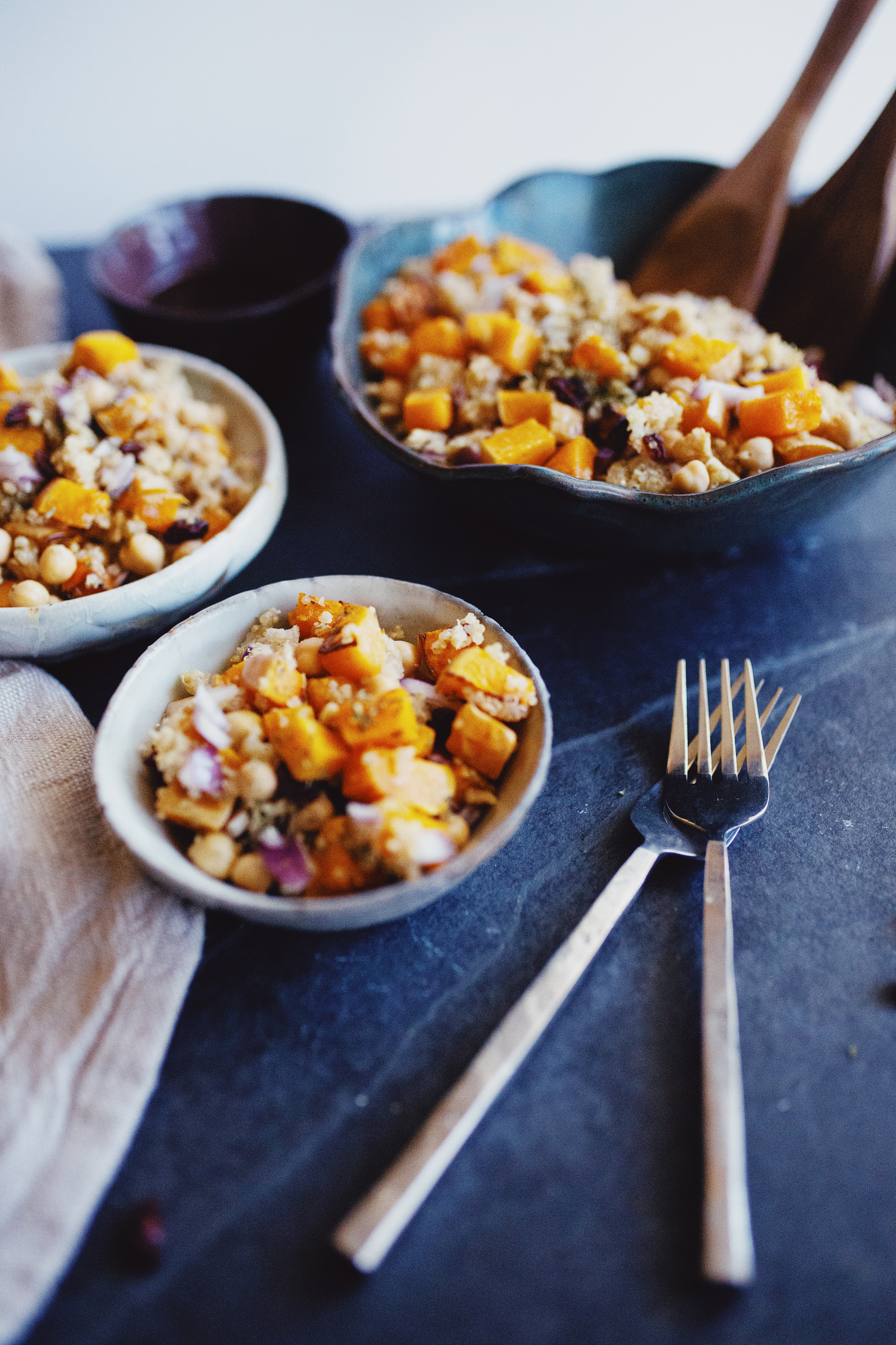 roasted butternut squash bowl