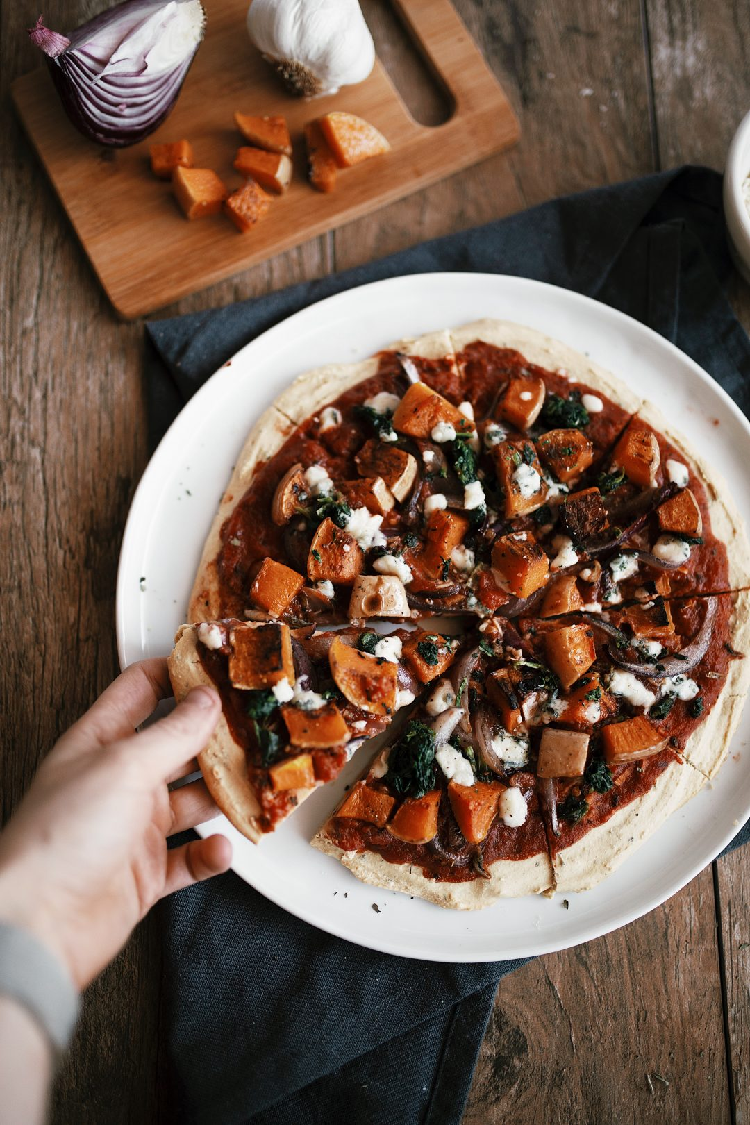 Chickpea Flour Pizza recipe