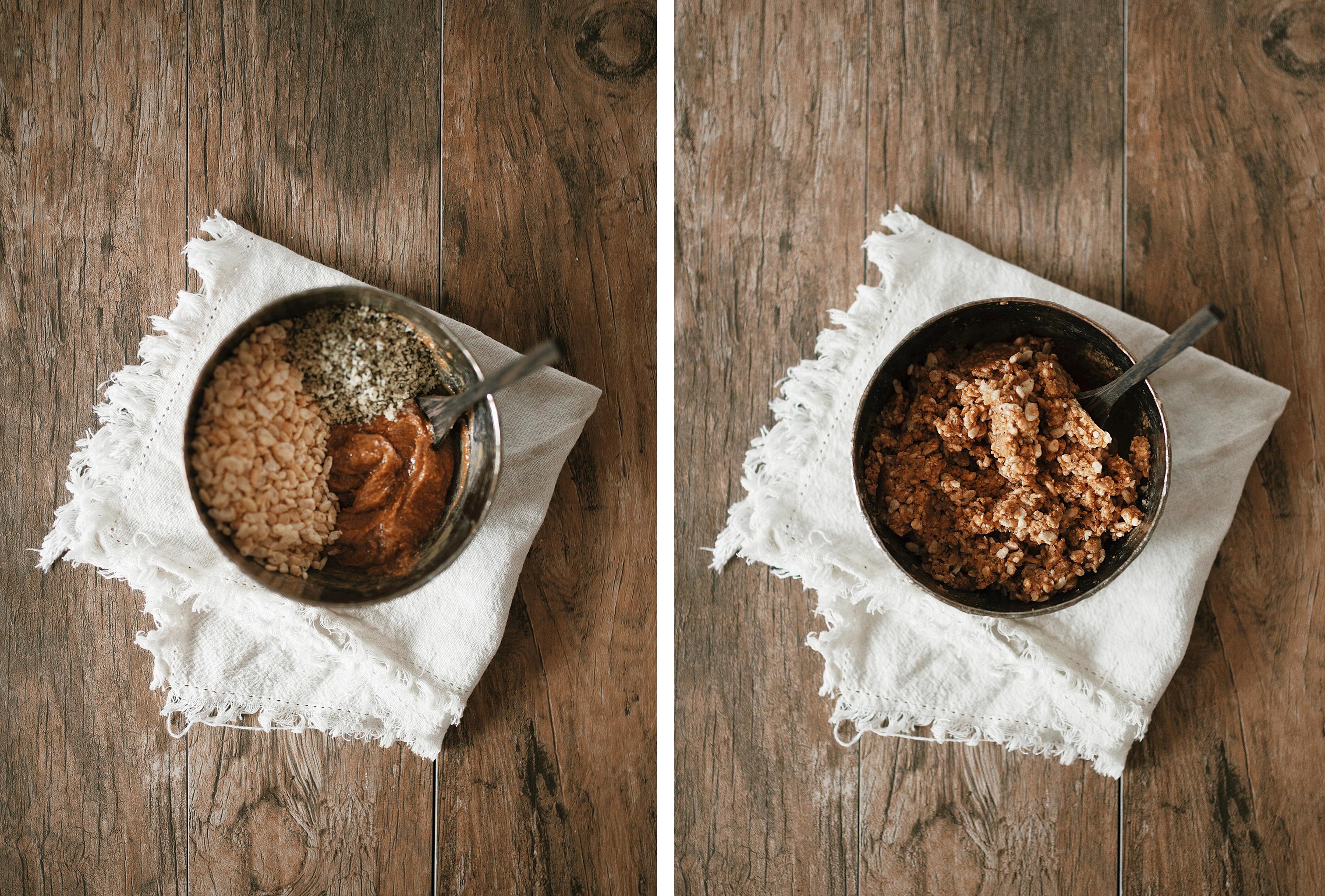 healthy rice crispy bars