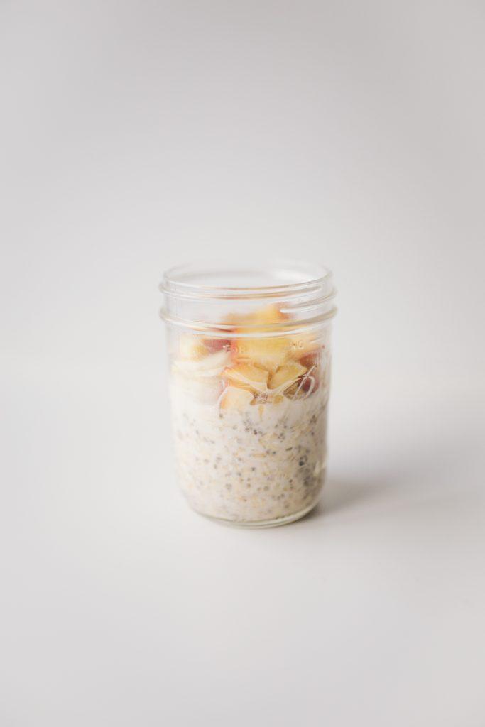 Peaches and Cream Vegan Overnight Oatmeal