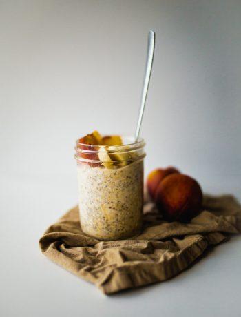 vegan peaches and cream oatmeal