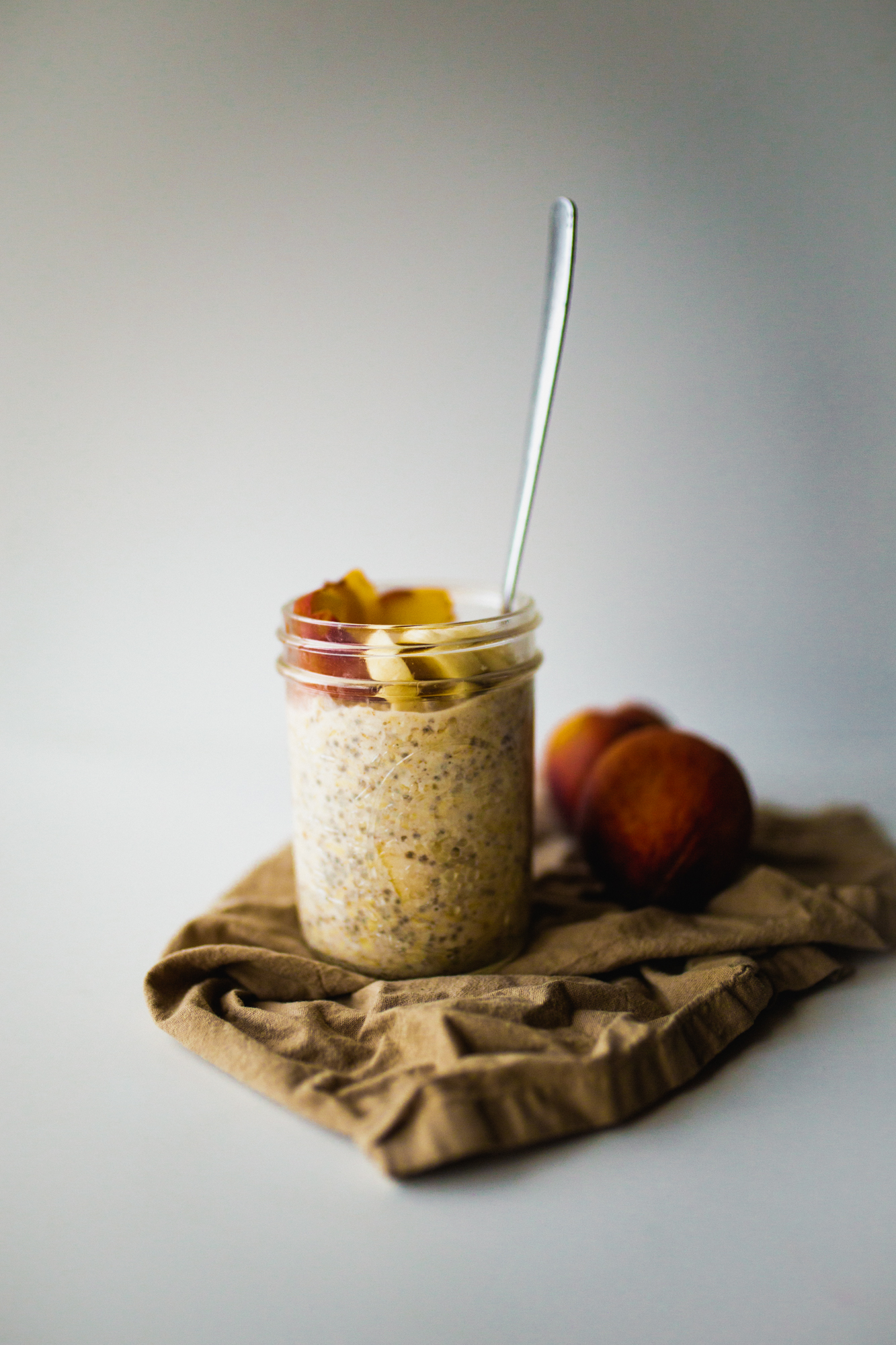 vegan peaches and cream oatmeal