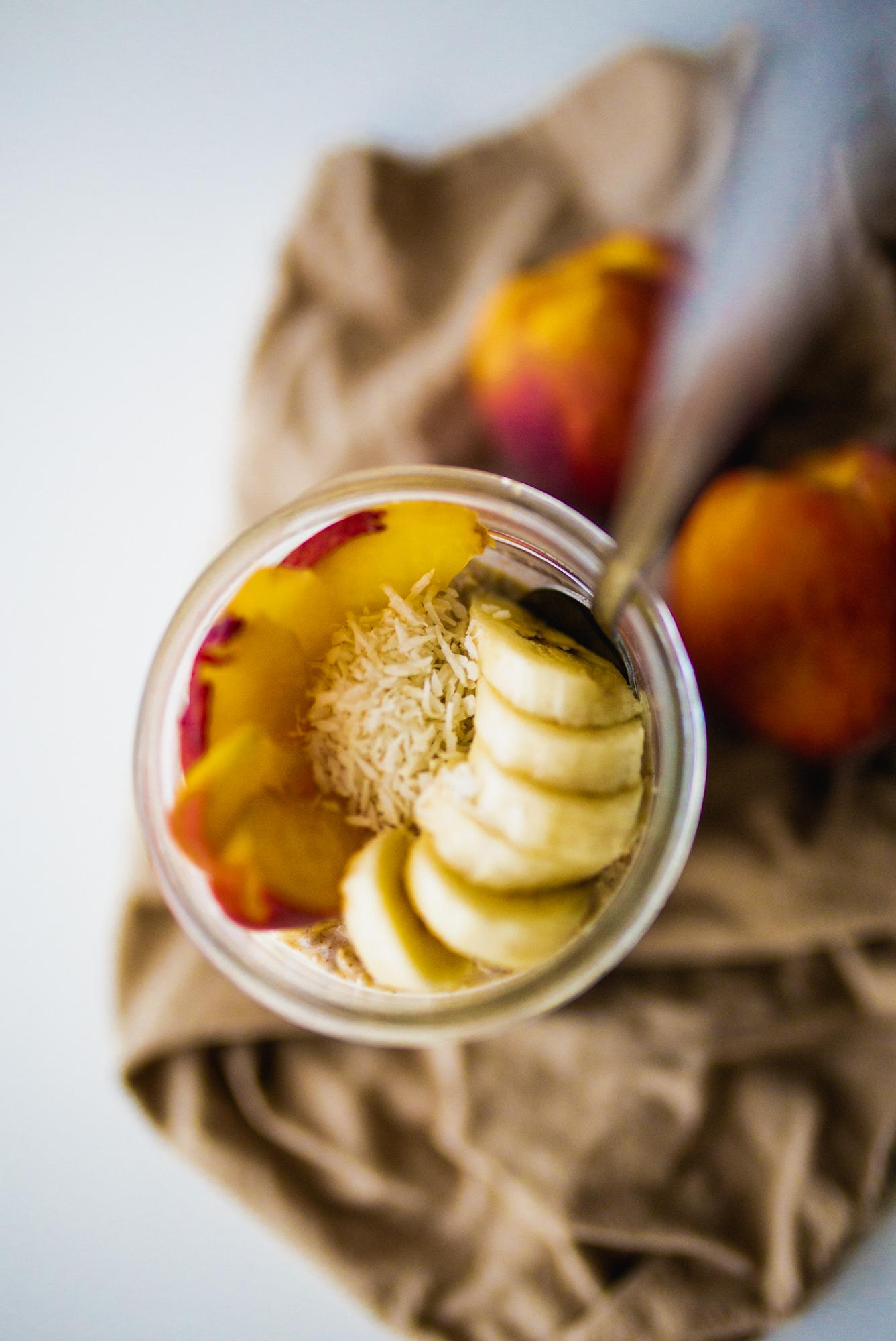 peaches and cream overnight oatmeal