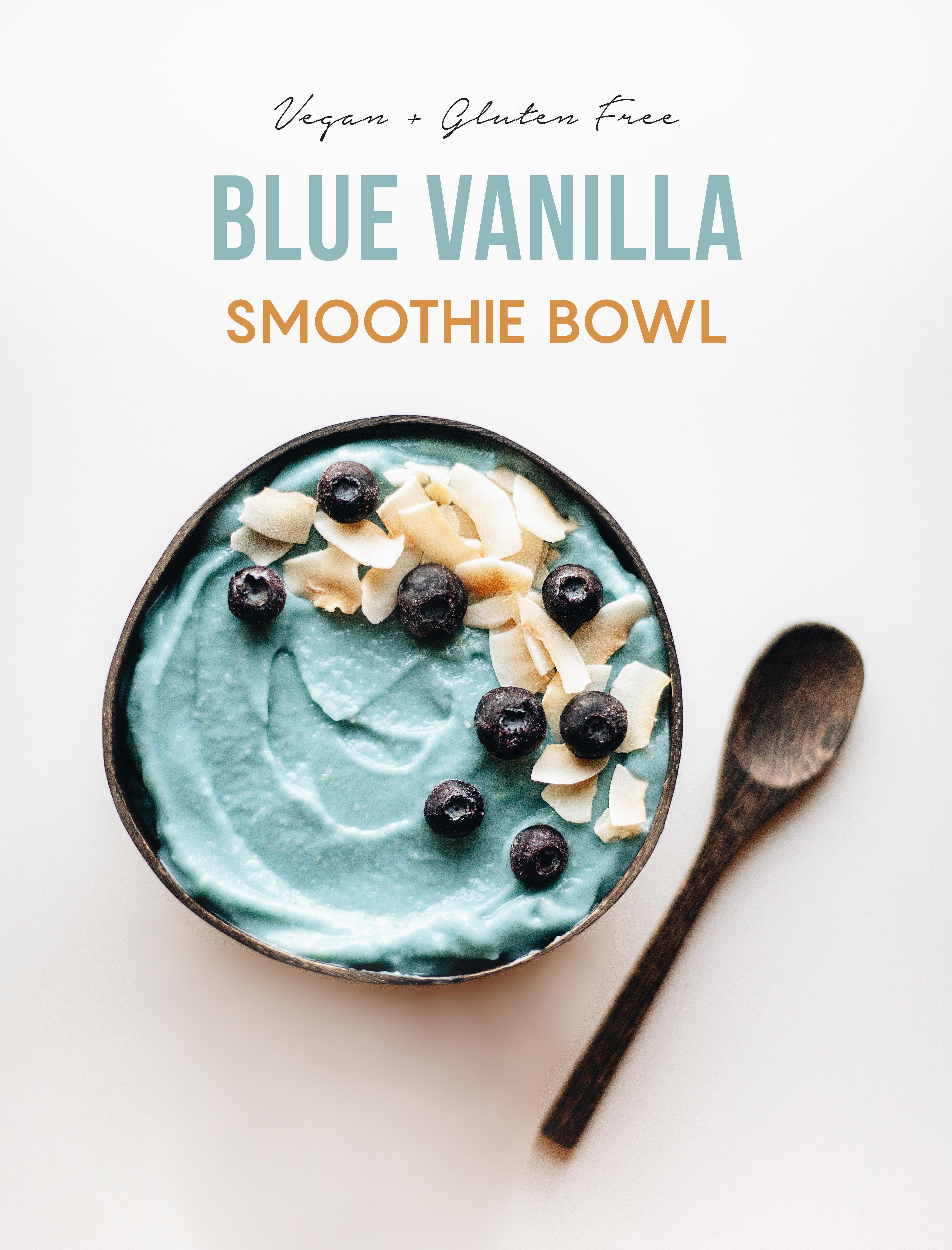 Blue Vanilla Smoothie Bowl