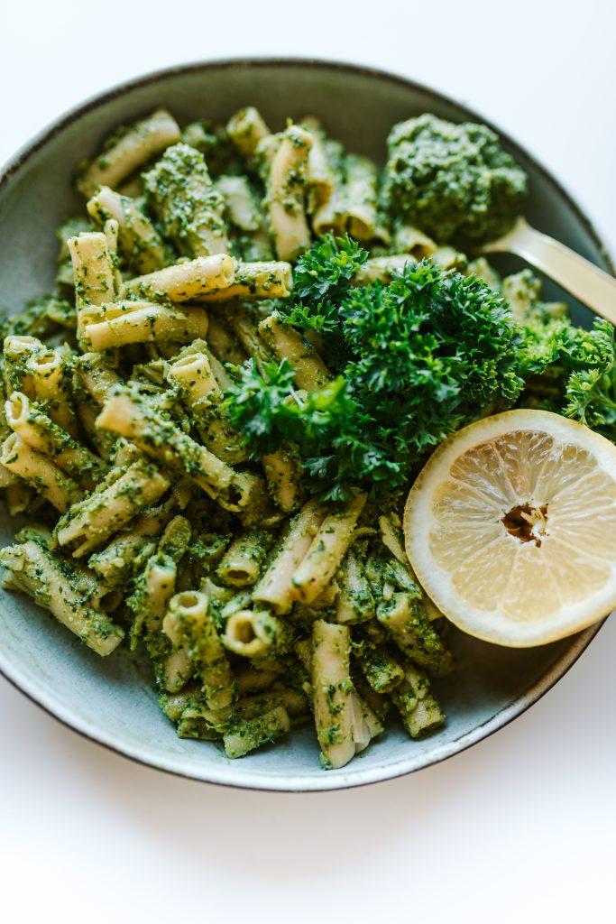 Vegan carrot top pesto - Healthy gluten free and vegan recipe
