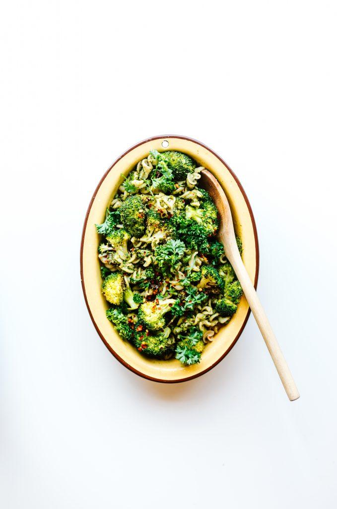 Easy Broccoli Pesto Pasta Salad